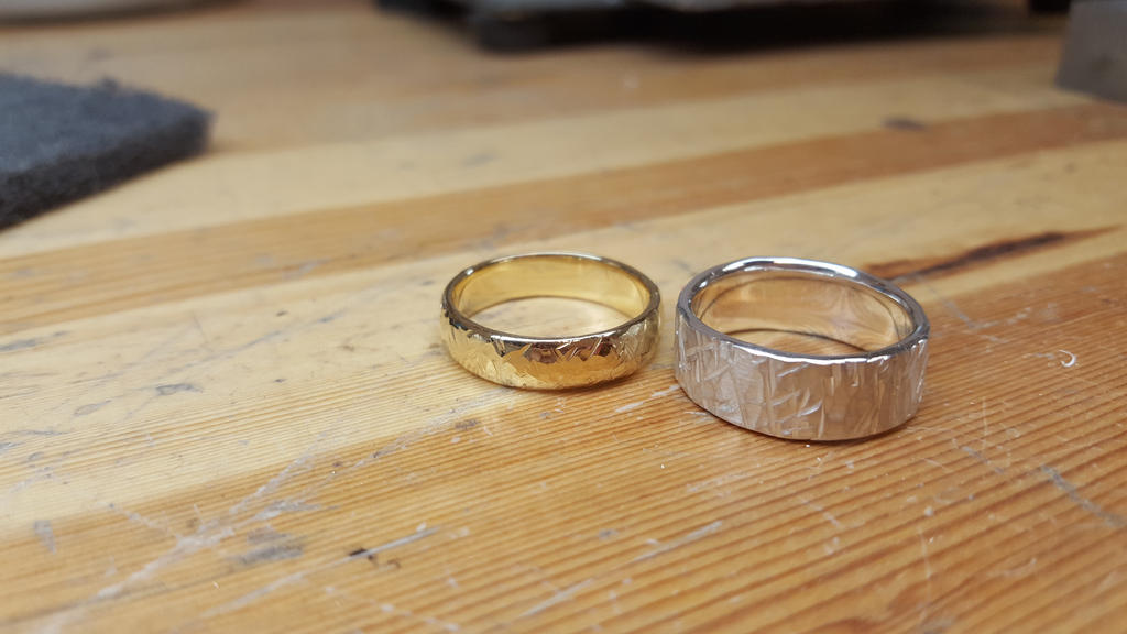 Cross Hatching Rings by Snappedragon