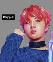 Jhope drawing (?) by morgyuk