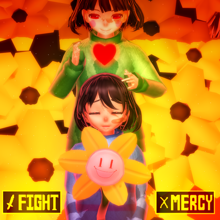 MMD Undertale Fight Or Mercy By YumiShimoda