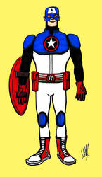 Captain America Design by Bakerthemarc