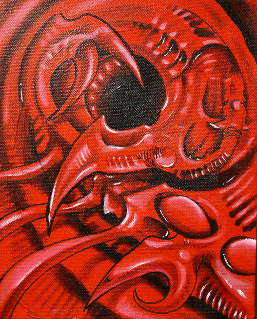 Red Biomech by mvaguero
