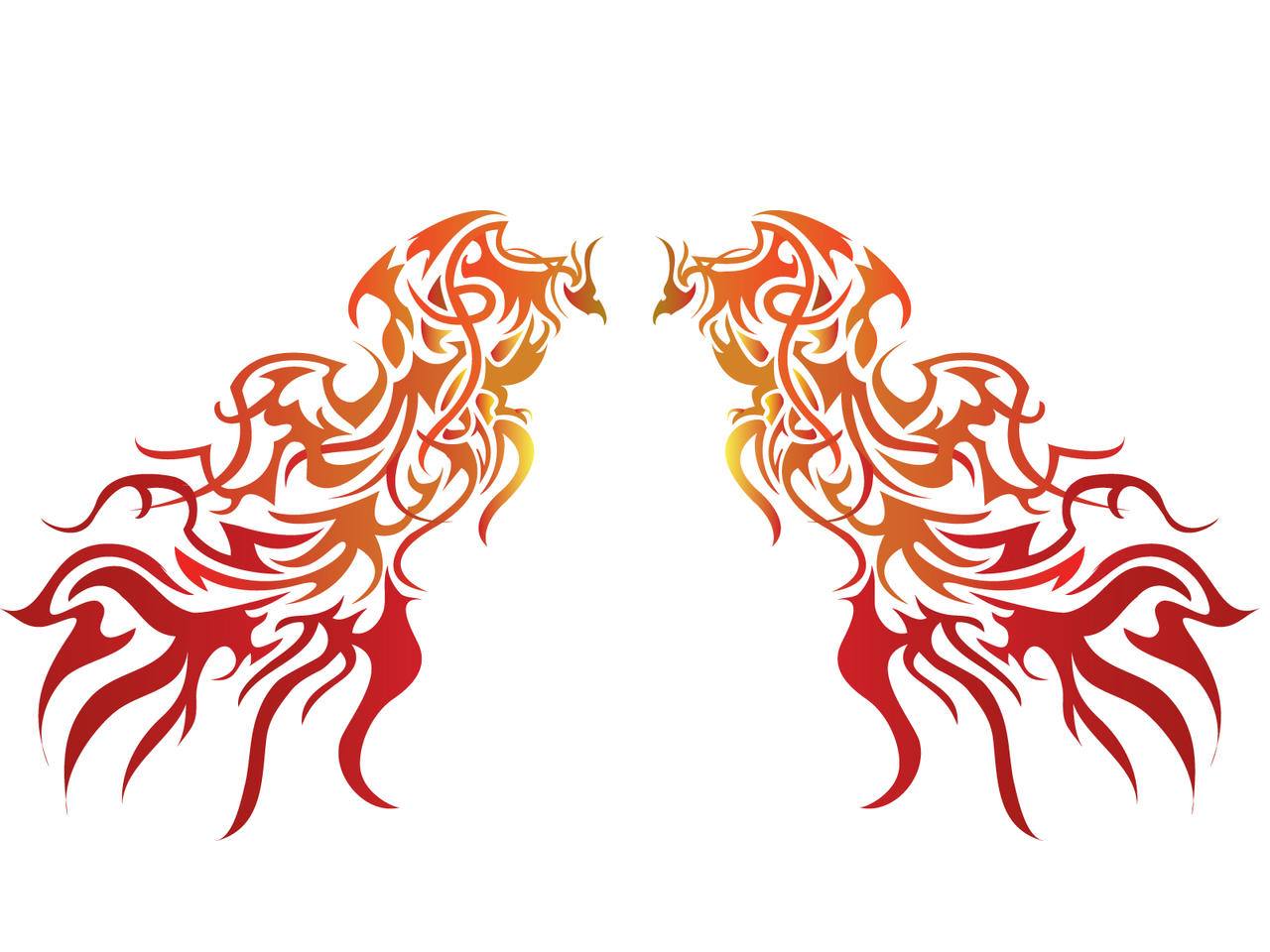 Phoenix Wings Tribal by