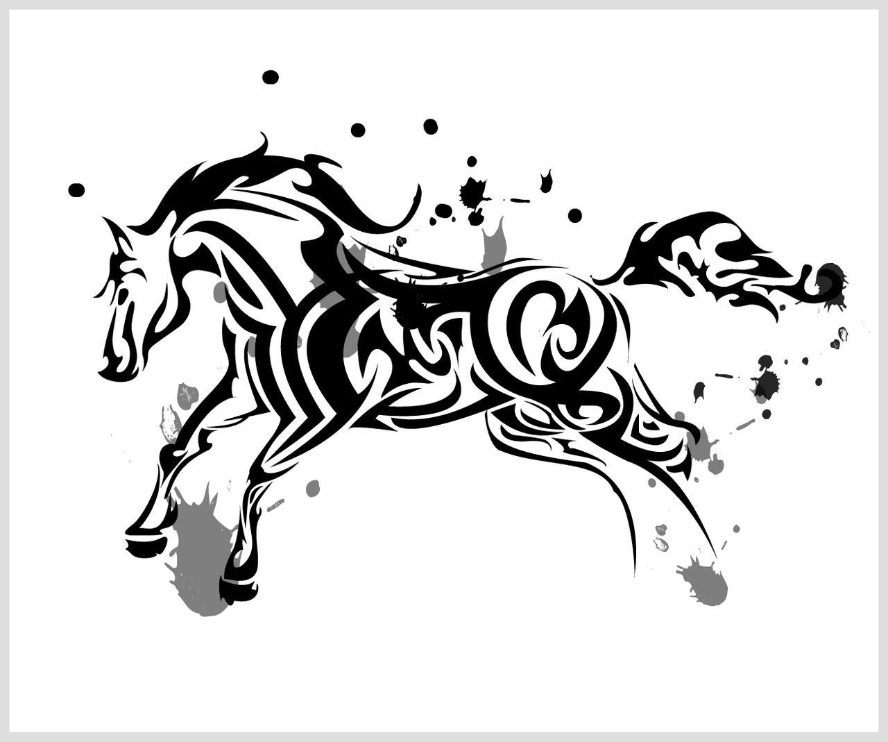 horse tribal by chronophoenix on deviantart. Black Bedroom Furniture Sets. Home Design Ideas