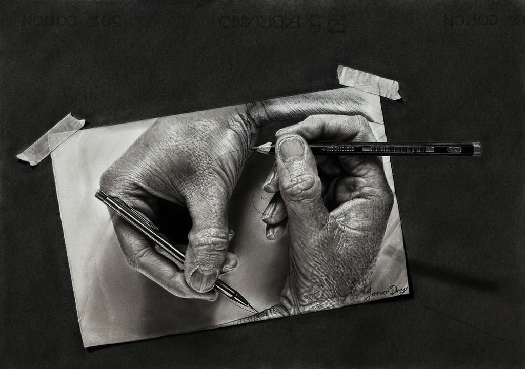 Creation (Escher tribute) by JonoDry