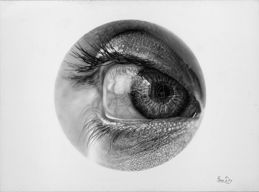 Eye Study 6 (Drawing) by JonoDry
