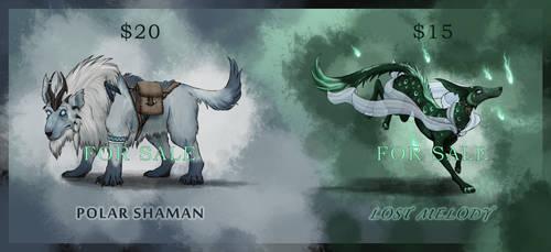 High-Fantasy Wolf Adoptables #1