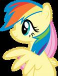 Fluttershy as Rainbow Dash