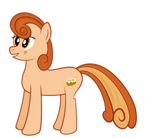 [Original] Cinnamon Bun Pony by gwennie-chan
