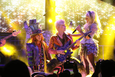 Mad Hatter, Dormouse, and Alice