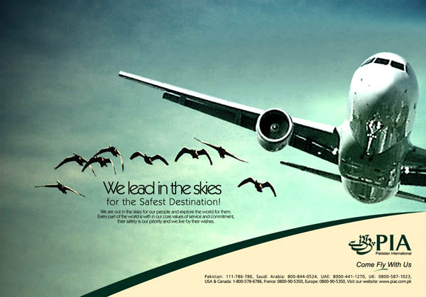 PIA Flight Schedule Ad  by creavity on DeviantArt