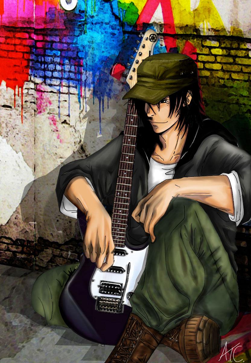 Guy with guitar by Scribbletati on DeviantArt