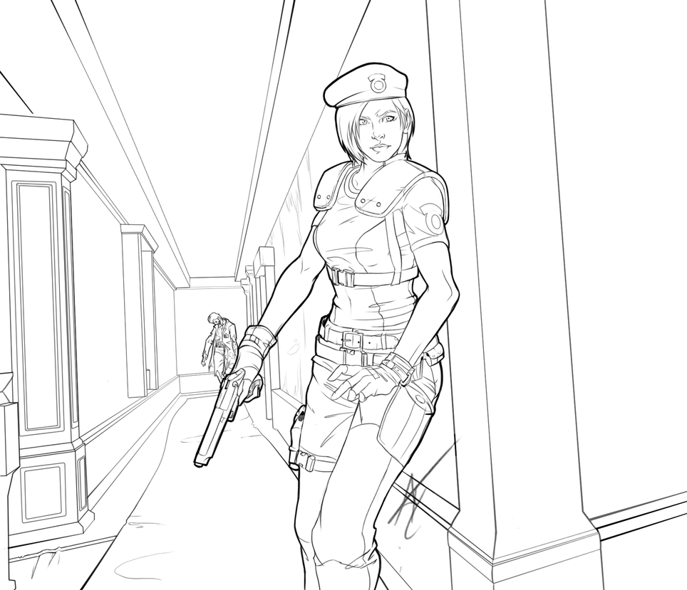 How To Draw Jill Valentine