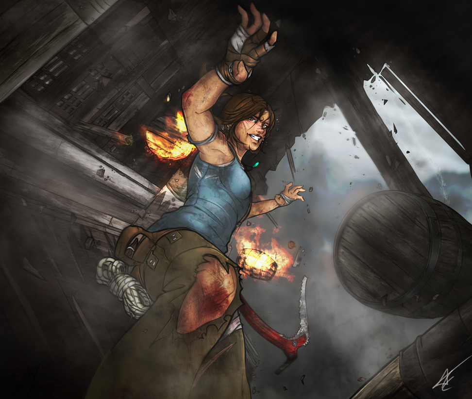 Tomb Raider 2013 Wallpaper: Tomb Raider (2013) By Scribbletati On DeviantArt