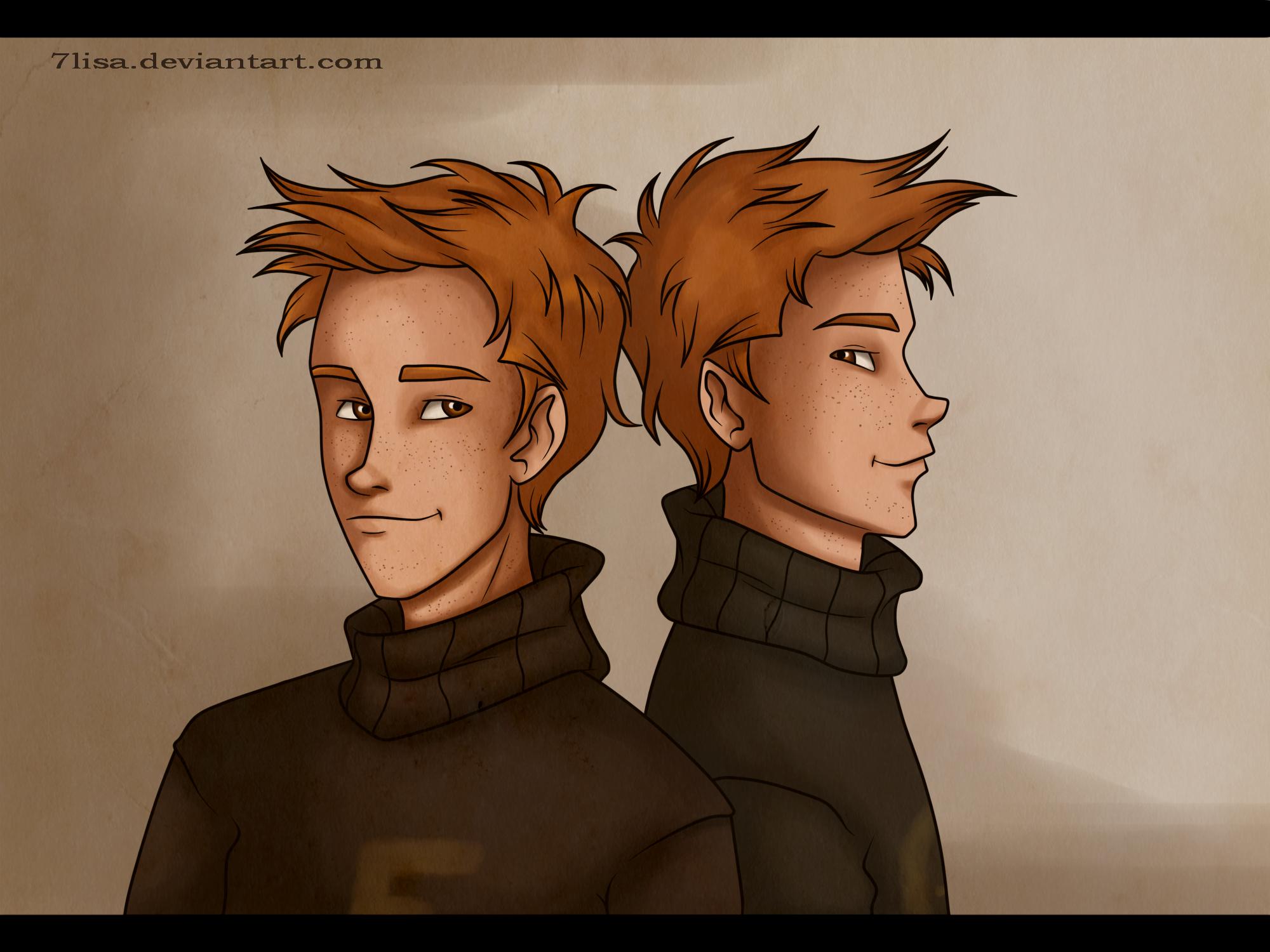 Weasley twins by 7Lisa