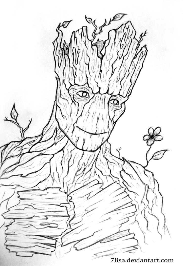I am Groot by 7Lisa on DeviantArt