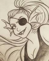 Undyne sketch by 7Lisa