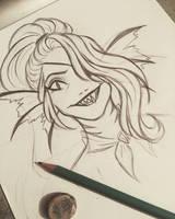 UT: Undyne sketch by 7Lisa