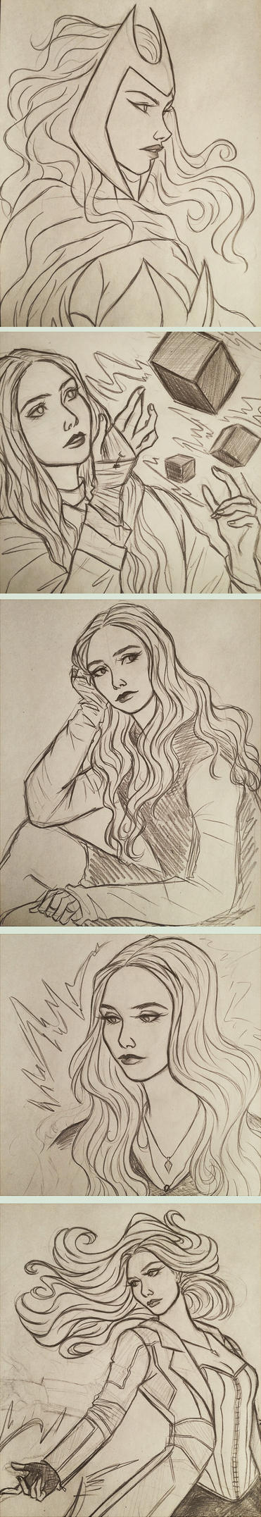 Scarlet Witch sketches by 7Lisa