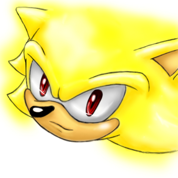 Super Sonic oeaki in photoshop by Tete-chin on DeviantArt