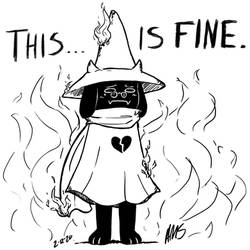 Sketch Night - Ralsei in the Flames