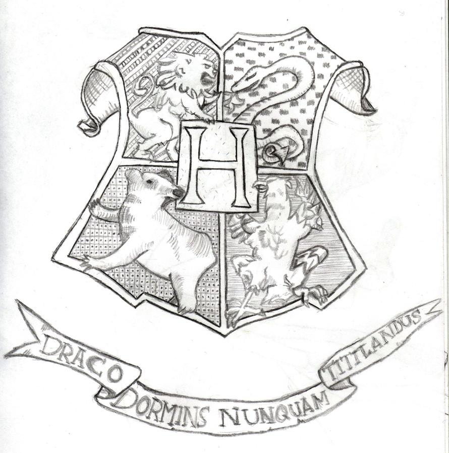 Harry Potter Hogwarts Crest By TanithTheArtist On DeviantArt
