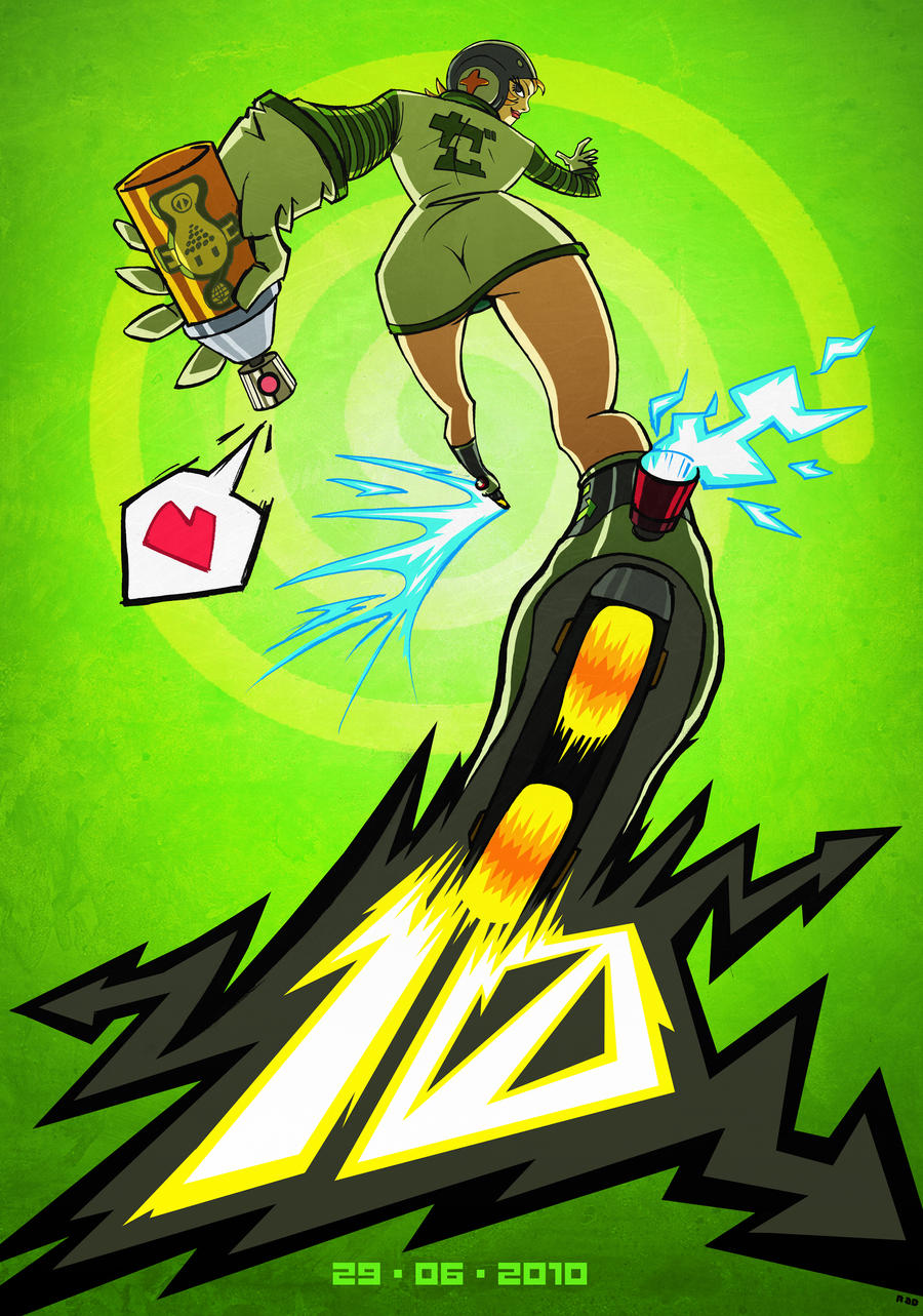 Jet Set Radio 10 by ArkadeBurt