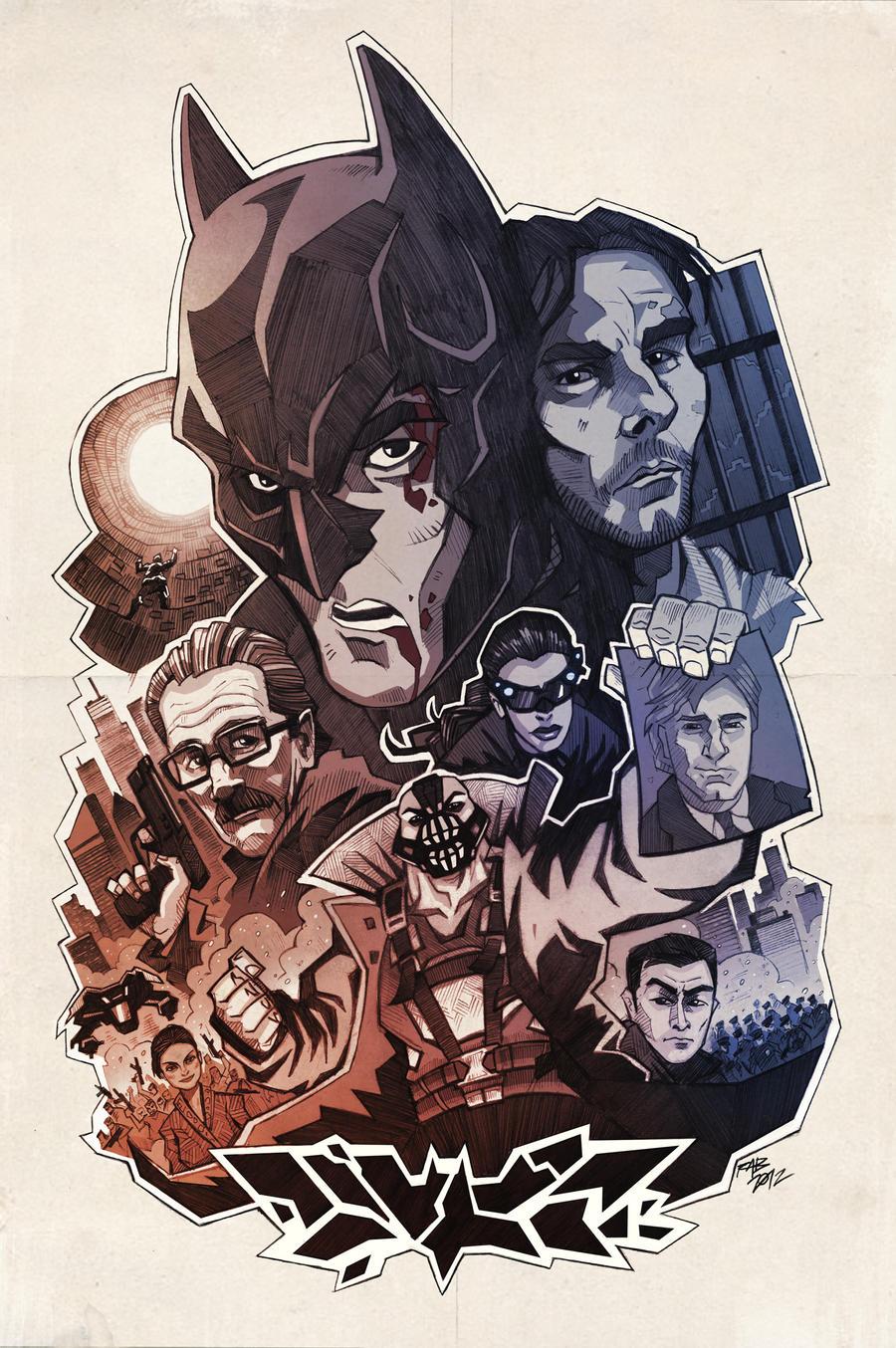 The Dark Knight Rises by ArkadeBurt