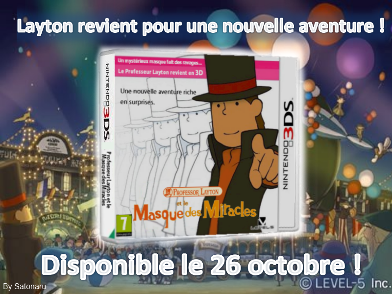 Professor Layton And The Mask of Miracle Professor Layton And The Mask of Miracle 10 26 by Satonaru