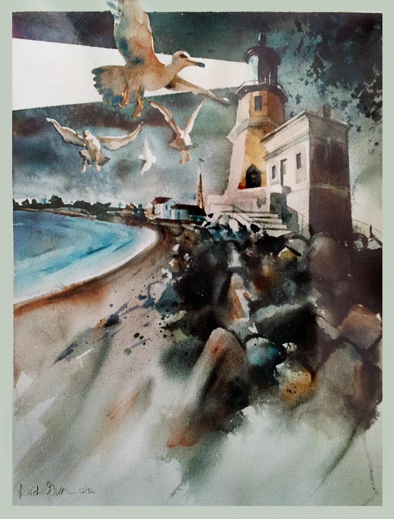 Early Days ~ Split Rock Lighthouse by richardcgreen