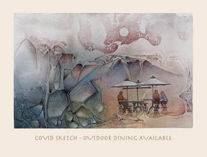 Covid Sketch ~ Outdoor Dining Available