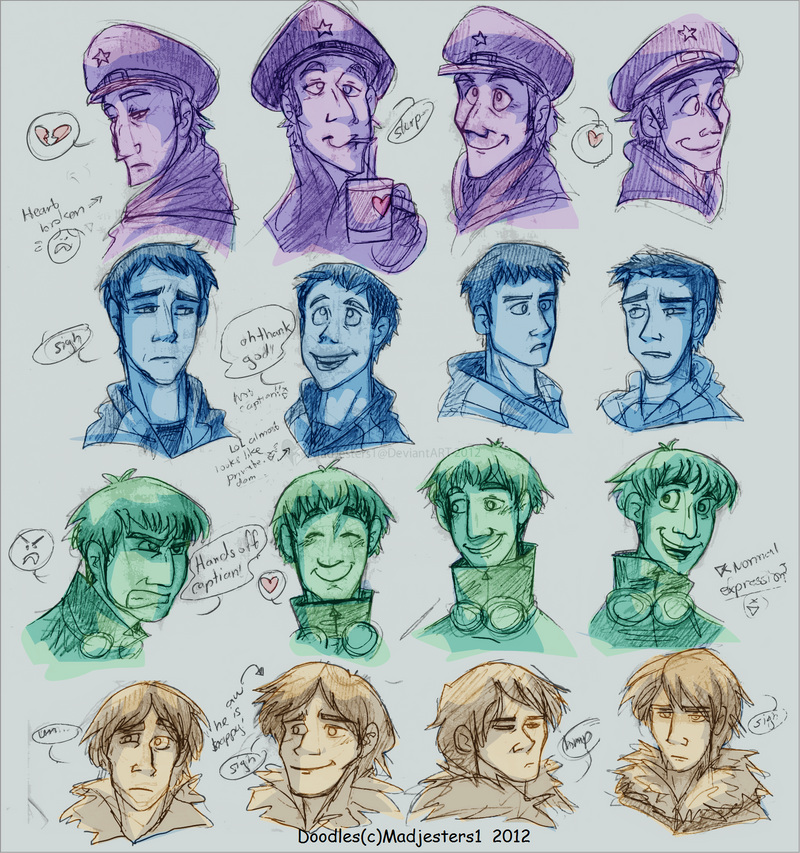 RomApo-Face practice by MadJesters1