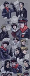 RomApo-Faces doodles and stuff by MadJesters1