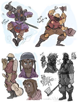 TF2 Fusions - Pyro/Engie and Demo/Solly