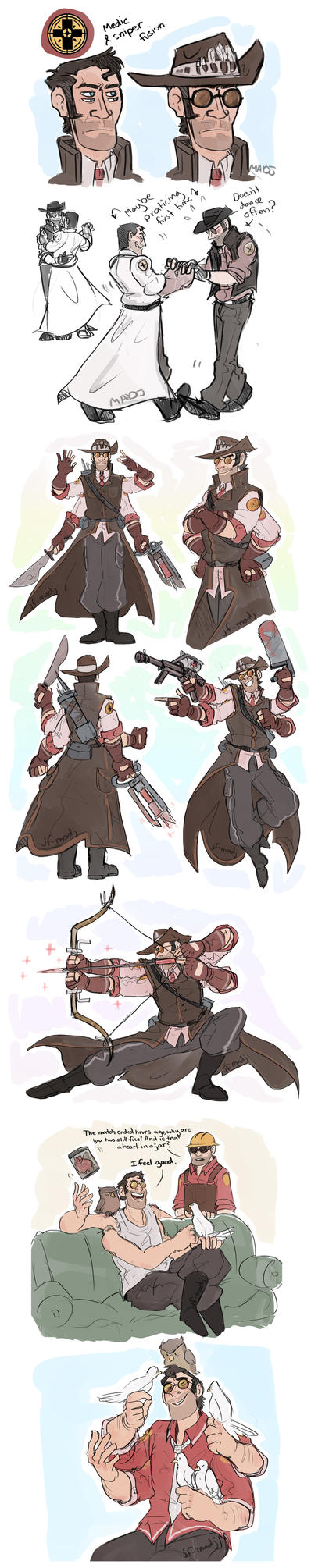TF2 Fusion- Medic and Sniper by MadJesters1