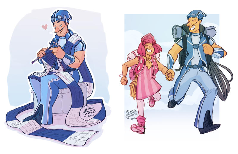 Lazy Town Sportacus And Stephanie By Madjesters1 On Deviantart