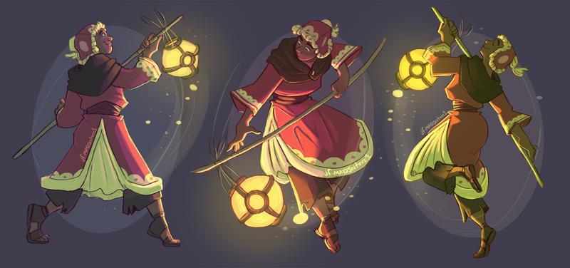 Litt lantern dancing