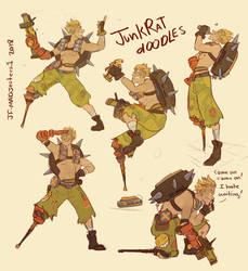 Junkrat Doodles by MadJesters1