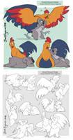 Animal Character Design- Jet and Tita