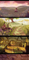 The Hobbit -Landscape Drawings by MadJesters1