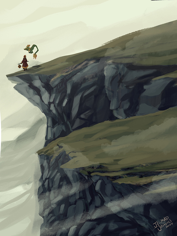 Litt- On the edge of her world