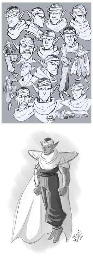 DBZ-Piccolo Doodles