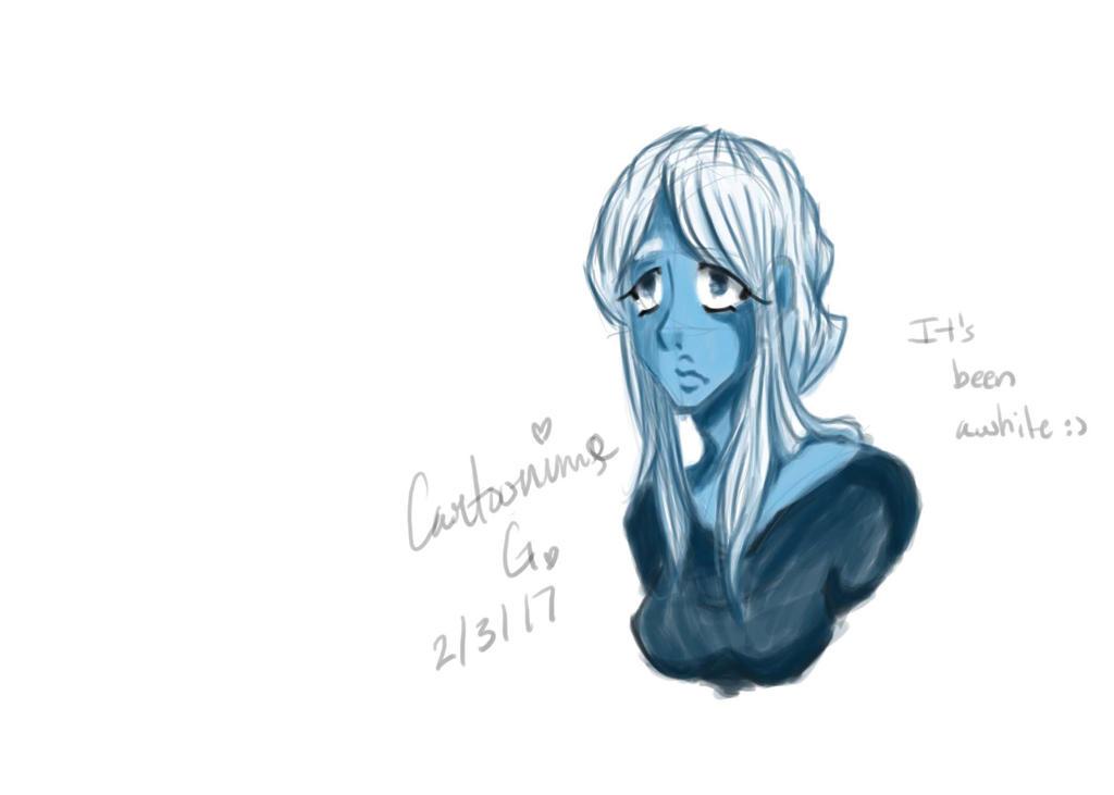 Blue Diamond WIP by CartoonimeGirl