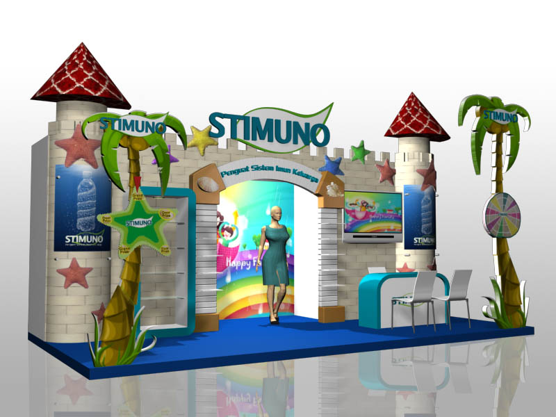 Kids Exhibition Booth : Stimuno exhibition booth by reezagraphicoholic on deviantart