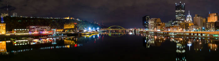 Pittsburgh Panorama - Station Square to Downtown by StevenJP
