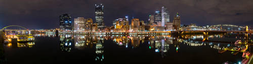 Pittsburgh Panorama - Downtown From Station Square by StevenJP