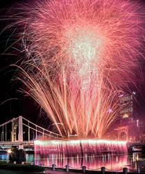 Pittsburgh Lightup Night 2015 Fireworks by StevenJP