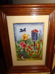 Bird Houses Framed