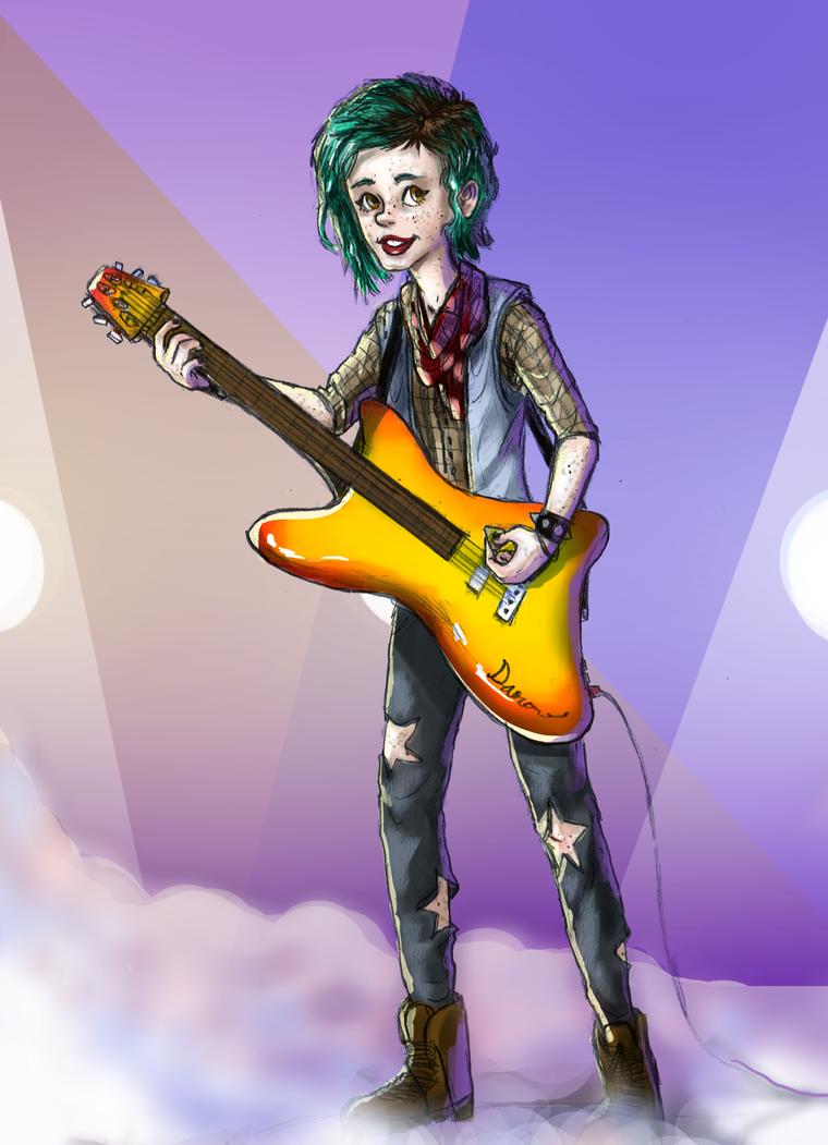 Random guitar girl by kkcooly