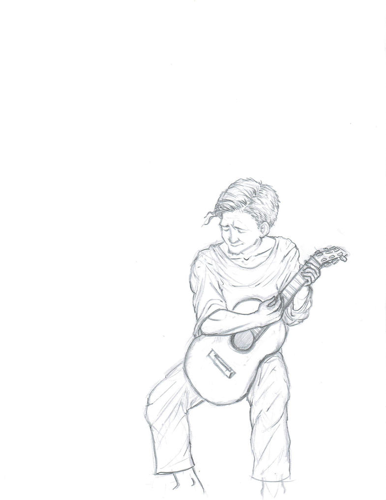 Guitarist sketch by kkcooly