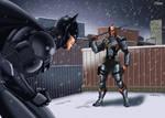 Batman Vs Deathstroke by LFSilver